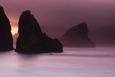 Scenic view of rock formations on the beach, Haystack Rock, Cannon Beach, Samuel H. Boardman Sta... by Panoramic Images