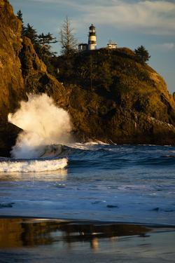 Scenic view of seacoast, Cape Disappointment State Park, Washington, USA by Panoramic Images