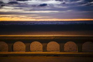 Sea beach at dusk, Seaside, Oregon, USA by Panoramic Images