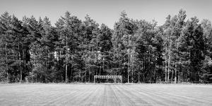 Soccer field in the countryside, Baden Wuerttemberg, Germany by Panoramic Images