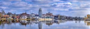 St. Charles Municipal Building, Fox River, St. Charles, Illinois, USA by Panoramic Images