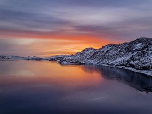 Sunset, Lake Kleifarvatn, Iceland by Panoramic Images