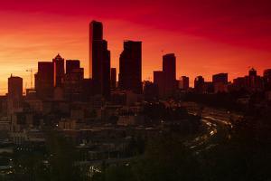 Sunset over Seattle, Washington, USA by Panoramic Images