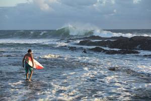Surfers in the Pacific Ocean, California, USA by Panoramic Images