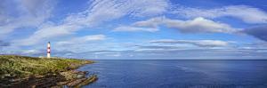 Tarbat Ness Lighthouse, Tarbat Ness Peninsula, Portmahomack, Easter Ross, Highlands, Scotland by Panoramic Images