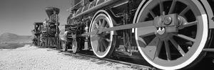 Train engine on a railroad track, Golden Spike National Historic Site, Utah, USA by Panoramic Images