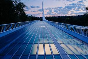 View of a bridge, Sundial Bridge at Turtle Bay, Redding, California, USA by Panoramic Images