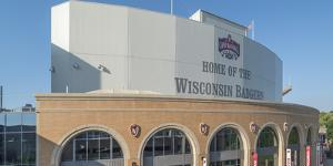 View of Camp Randall Stadium on University of Wisconsin-Madison, Madison, Dane County, Wisconsin... by Panoramic Images