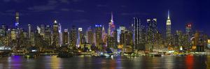 View of Manhattan skyline, New York City, New York State, USA by Panoramic Images