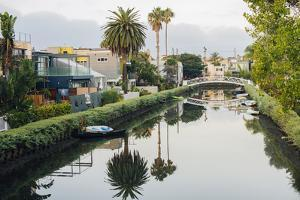Water canal between buildings, Venice Beach, Los Angeles, California, USA by Panoramic Images