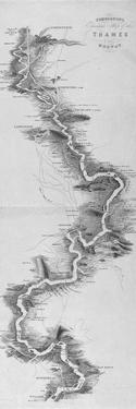 Panoramic Map of the River Thames, 1850