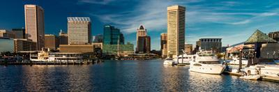 Panoramic view of Baltimore Inner Harbour, Maryland