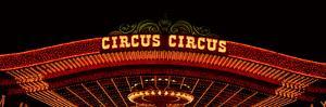 Panoramic View of Neon Lights of Circus Circus Casino, Las Vegas, Nv