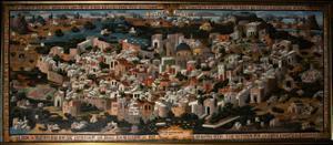 Panoramic View of Palestine with Jerusalem City, 1833
