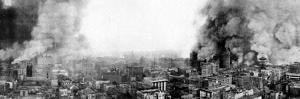 Panoramic View of San Francisco Burning after the Earthquake, 1906