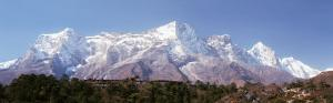 Panoramic View of Snow Covered Mountains, Everest View Hotel, Kongde Ri, Khumbu, Nepal