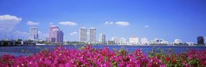 Panoramic View of the Waterfront and Skyline, West Palm Beach, Florida, USA