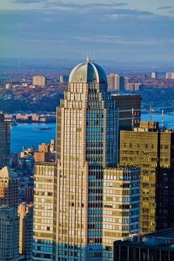 """Panoramic views of New York City at sunset from Rockefeller Square """"Top of the Rock"""" New York Ci..."""