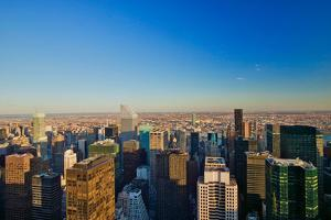 "Panoramic views of New York City at sunset looking toward Central Park from Rockefeller Square ""..."