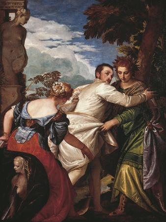 Allegory of Virtue and Vice or Hercules' Choice, Circa 1580