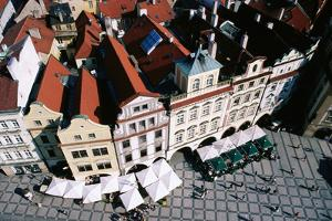 Overhead of Houses in Old Town Square from Town Hall Tower. by Paolo Cordelli