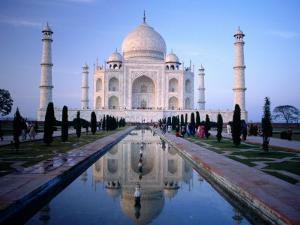 Taj Mahal Reflected in Watercourse by Paolo Cordelli