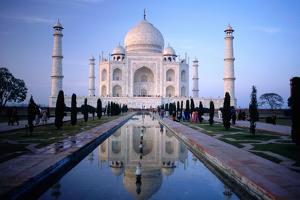 Taj Mahal Reflected in Watercourse. by Paolo Cordelli