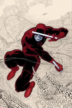 Daredevil No.1 Cover: Daredevl Jumping amidst Sounds