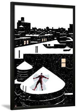 Daredveil No.7 Cover; Daredevil Making a Snow Angel on a Rooftop by Paolo Rivera