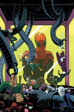 Superior Spider-Man Team-Up #5 Cover: Spider-Man, Vulture, Electro, Sandman, Green Goblin, Kingpin by Paolo Rivera