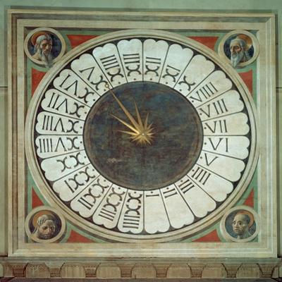Canonical Clock with the Heads of Four Prophets, Completed 1443