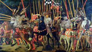 The Battle of San Romano in 1432, circa 1456 by Paolo Uccello