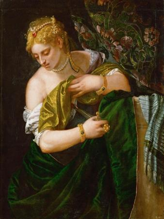 Lucretia, Ca 1583 by Paolo Veronese