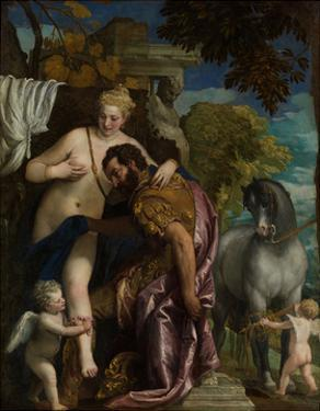 Mars and Venus United by Love, 1570S by Paolo Veronese