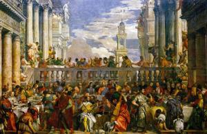 The Wedding at Cana, Photograph Before Restoration by Paolo Veronese