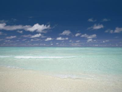 Beach and Turquoise Lagoon, Maldives, Indian Ocean