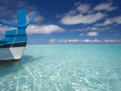 Bow of Boat in Shallow Water, Maldives, Indian Ocean