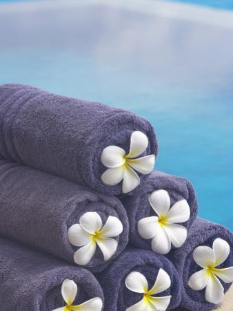 Towels on the Swimming Pool, Maldives, Indian Ocean