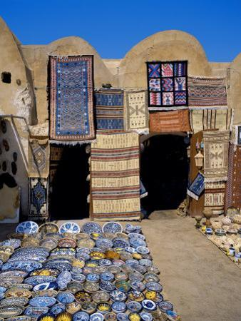Traditional Pottery and Rug Shop, Tunisia, North Africa, Africa