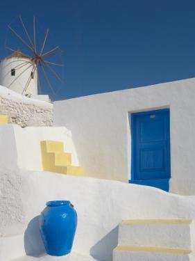 Windmill in Oia, Santorini, Cyclades, Greek Islands, Greece, Europe by Papadopoulos Sakis