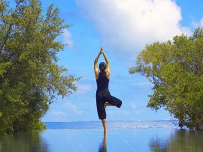 Yoga Meditation, Full Moon Island, Male Atoll, Maldives, Indian Ocean