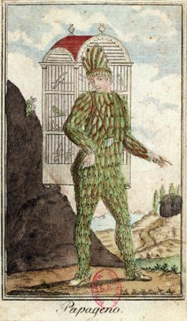 """Papageno the Bird-Catcher, from """"The Magic Flute"""" by Wolfgang Amadeus Mozart"""