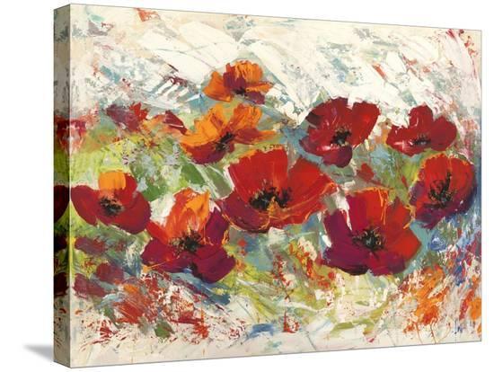 Papaveri in Estate-Luigi Florio-Stretched Canvas Print