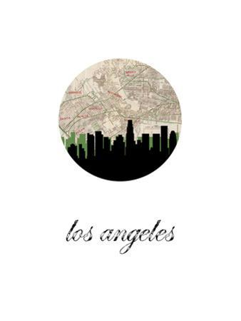 Los Angeles Map Skyline by PaperFinch