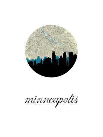 Minneapolis Map Skyline by PaperFinch
