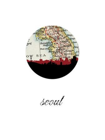 Seoul Map Skyline by PaperFinch