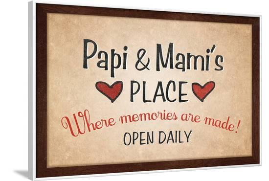 Papi and Mami's Place--Framed Poster
