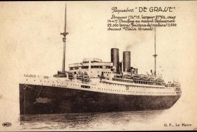 Paquebot De Grasse, Cgt, Dampfschiff, Frankreich