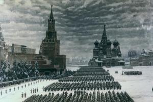 Parade in Red Square, December 1947, Moscow, Russia