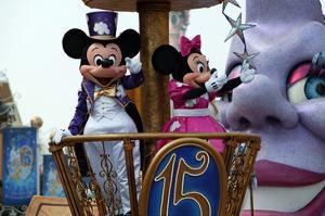 Parade in the Main Street U.S.A., Disneyland Resort Paris, Ile-de-France, France